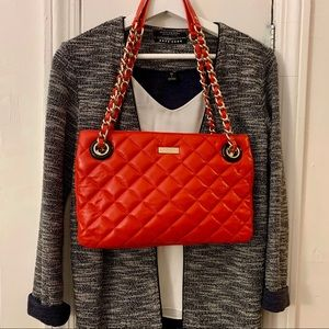Kate Spade quilted leather double zip shoulder bag